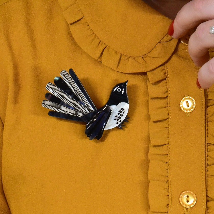 Silly Willy Wagtail Brooch