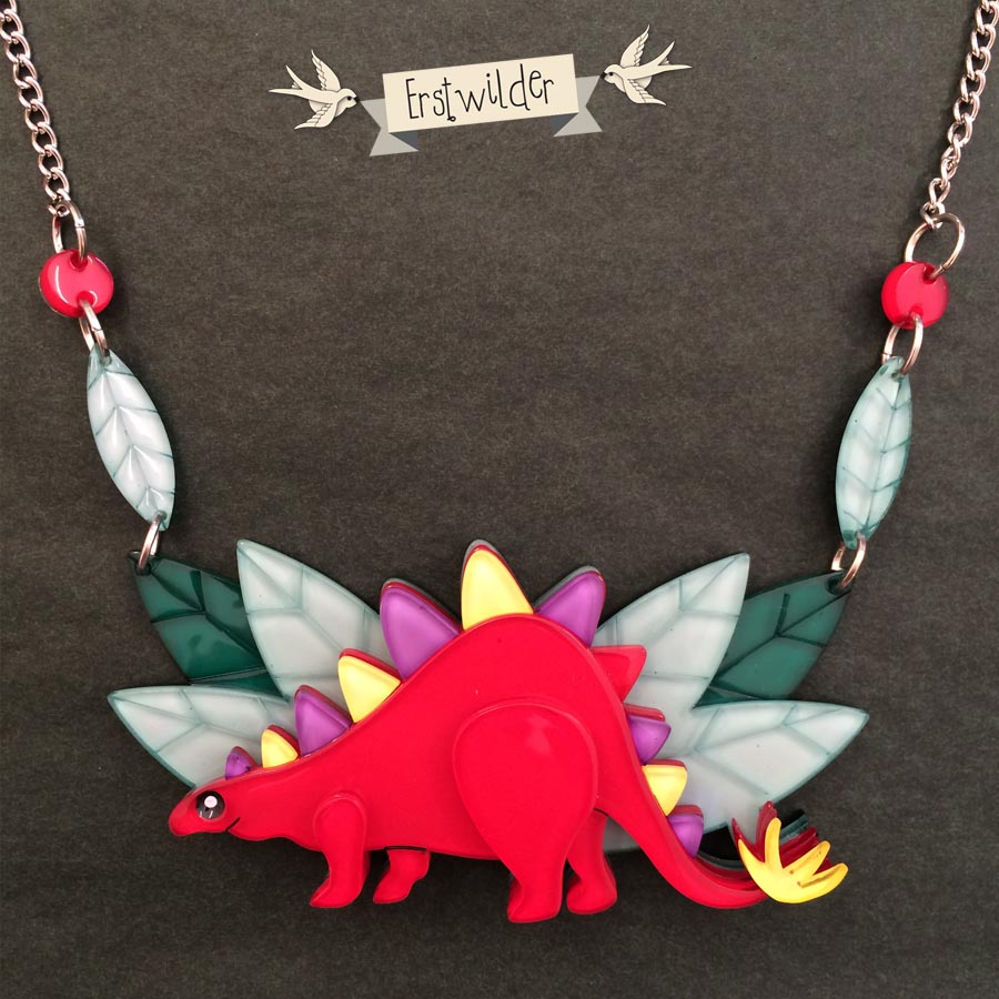Erstwilder Stegasaurus Necklace Design