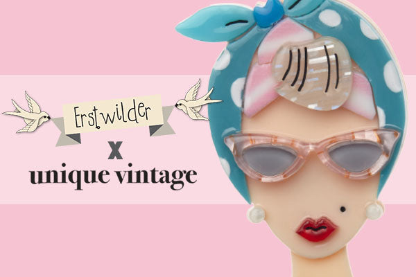 Erstwilder x Unique Vintage Brooch and Fashion Collaboration