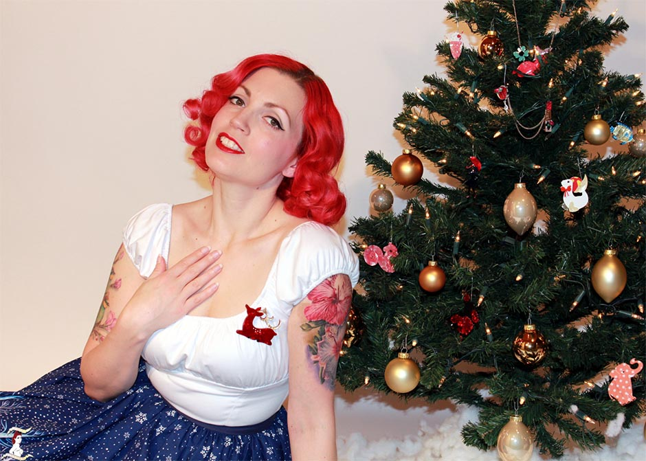 Pinup Persuasion and Dear Rudolph Brooch 2