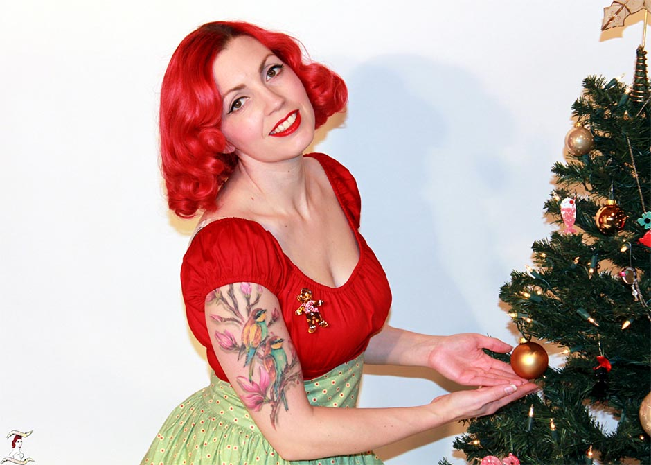 Pinup Persuasion and Ginger the Christmas Cookie