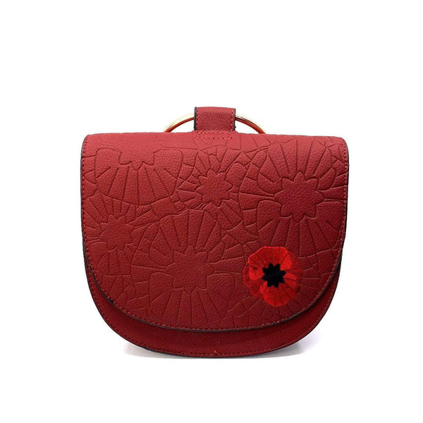 Poppy Field Saddle Bag