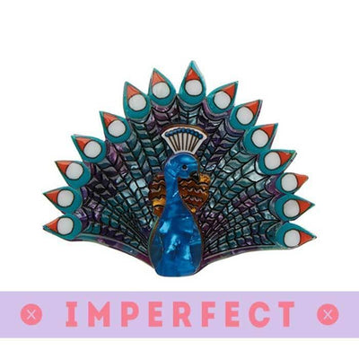 Penelope Peacock Brooch (IMPERFECT)