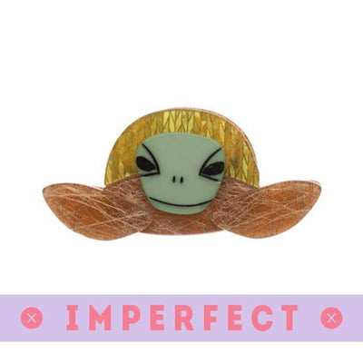 Stu the Surfin Sea Turtle Brooch (IMPERFECT)