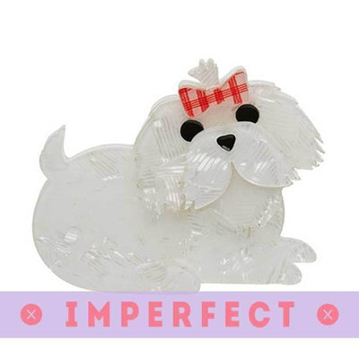 Molly the Maltese Brooch (IMPERFECT)