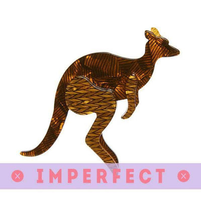 Erstwilder - Kangaroo Crossing Brooch (IMPERFECT) - 1