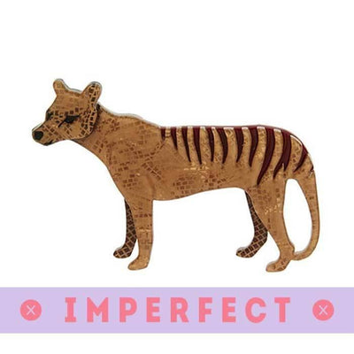 The Truant Thylacine Brooch (IMPERFECT)