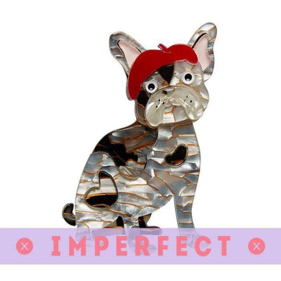 sale Claude the Chic Dog Brooch (IMPERFECT) IP-BH6582-8070