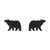 Erstwilder Essentials Bear Textured Resin Stud Earrings - Black EE0009-RI7000