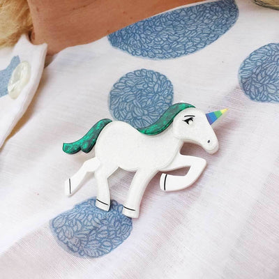 Ula the Unicorn Brooch