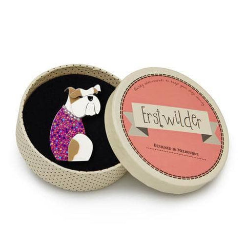 Erstwilder - Belle the Bulldog Brooch (IMPERFECT) - 1