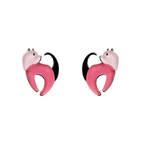 Cat Walk Stud Cat Earrings