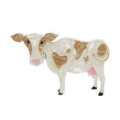 Clara-Bell Cow Brooch