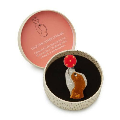 Erstwilder - Coco the Clever Cavalier Brooch - 1
