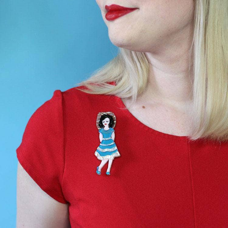 Rockabilly Queen Brooch