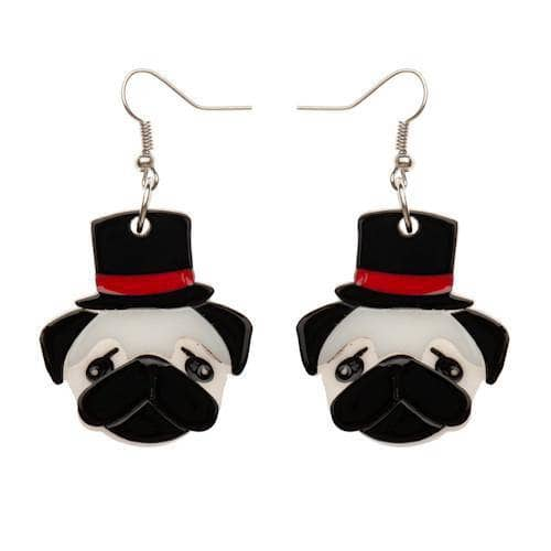 Erstwilder - Don the Dapper Pug Earrings - 1