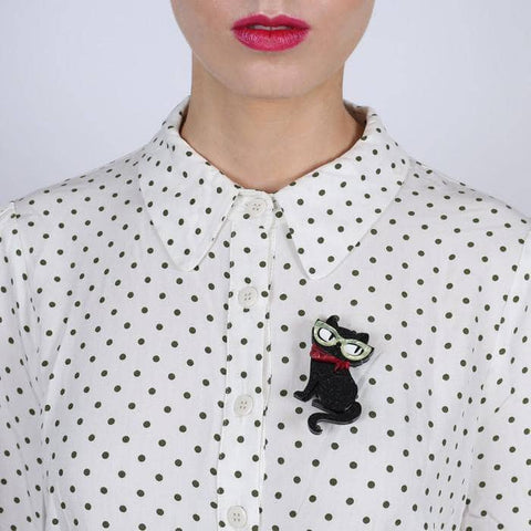 Elissa the Indie Cat Brooch