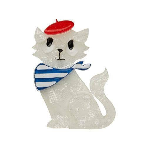 Erstwilder - Farrah the French Kitty Brooch - 1