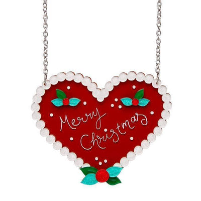 Festive Ginger Heart  Necklace