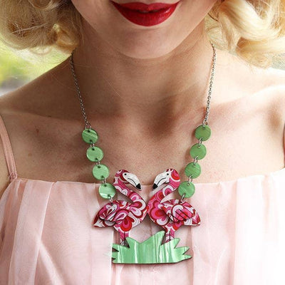 Flamboyant Flamingo Fair  Necklace (IMPERFECT)