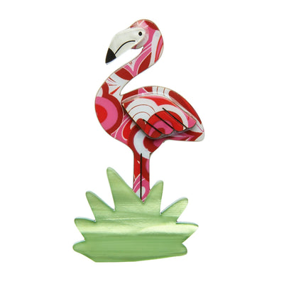 Flamboyant Flamingo Funk Flamingo Brooch (IMPERFECT)