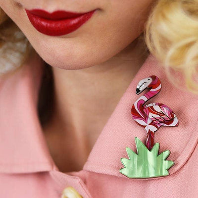 Flamboyant Flamingo Funk Flamingo Brooch