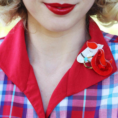 His Girl Friday Brooch