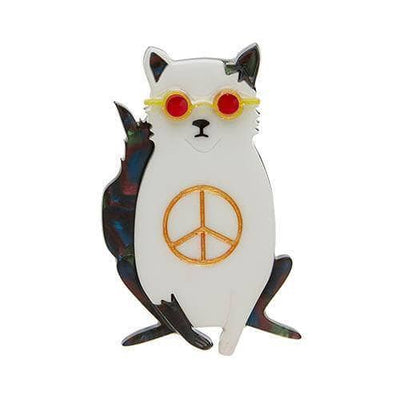Instant Karma Cat Brooch