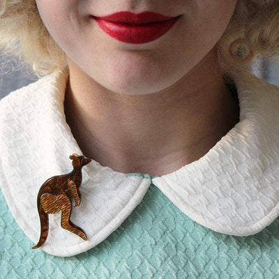 Erstwilder - Kangaroo Crossing Brooch (IMPERFECT) - 3