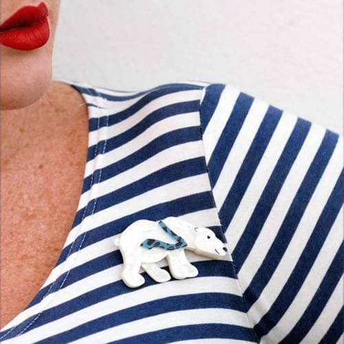Erstwilder - Pav the Polar Bear Brooch - 2