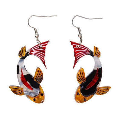 Playing Koi Earrings