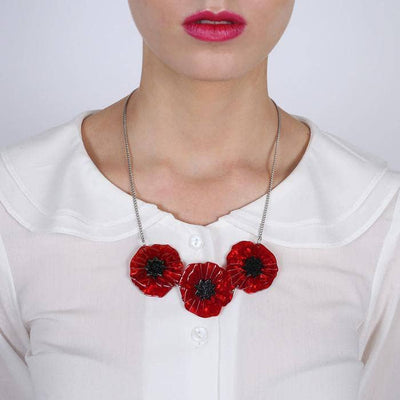 sale Poppy Field Necklace (IMPERFECT) IP-N4033-7010