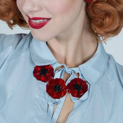 Erstwilder Poppy Field Necklace N4033-7010-GR