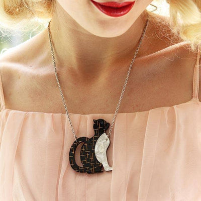 Purrfectly Content Cat  Necklace