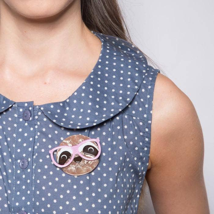 Erstwilder - Sammy the Smart Sloth Brooch - 2