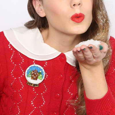sale Season's Greetings Brooch (IMPERFECT) IP-BH6254-9080