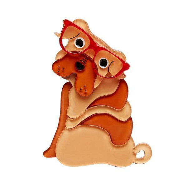 Shi-Ping the Shar Pei Dog Brooch
