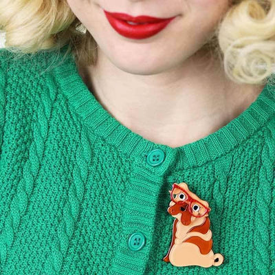 Shi-Ping the Shar Pei Dog Brooch (IMPERFECT)