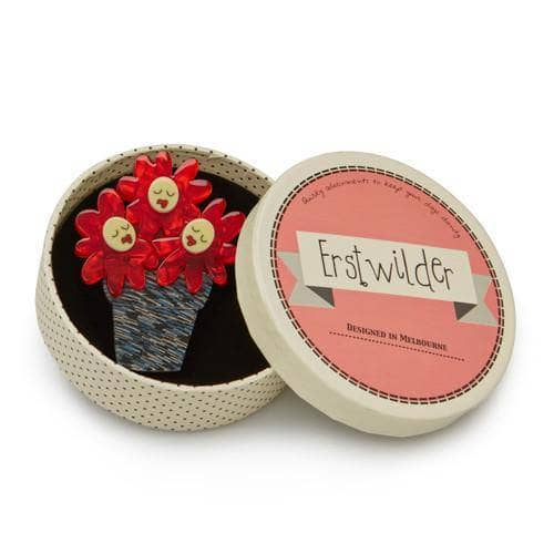 Erstwilder - Singing Flower Trio Brooch - 3