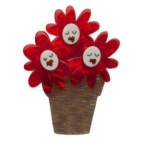 Erstwilder - Singing Flower Trio Brooch - 1