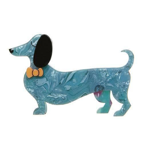 Erstwilder - Spiffy the Sausage Dog Brooch - 1