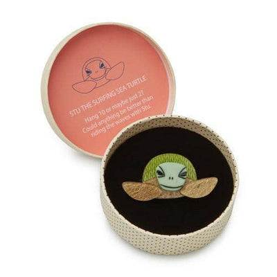 Erstwilder - Stu the Surfin Sea Turtle Brooch - 3