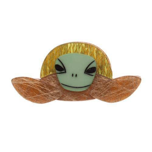 Erstwilder - Stu the Surfin Sea Turtle Brooch - 1