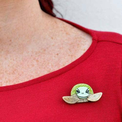 Erstwilder - Stu the Surfin Sea Turtle Brooch - 2