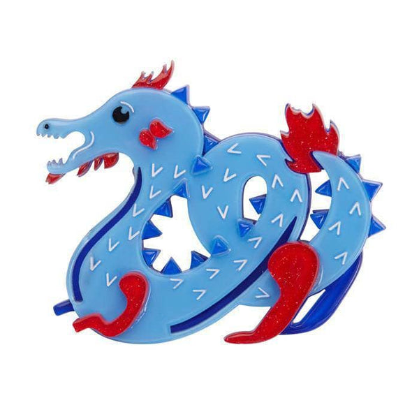 Tatsu the Terrifying Dragon Brooch