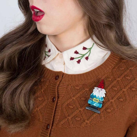 There's No Place Like Gnome Brooch
