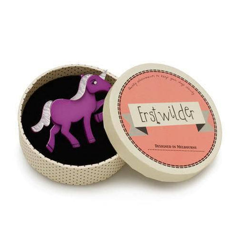 Erstwilder - Ula the Unicorn Brooch - 1
