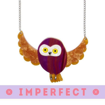 sale Spark the Owl Necklace (IMPERFECT) IP-N6557-0180