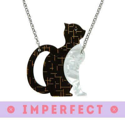 Purrfectly Content Cat  Necklace (IMPERFECT)