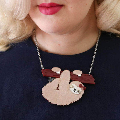 Erstwilder Sybil the Sloth Necklace N6678-8112